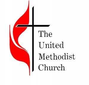 United Methodist Church Cross and Flame