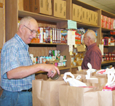 Volunteers at the Food Pantry