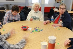 Golden Maple group playing a game