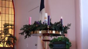 Advent Wreath at Maple UMC